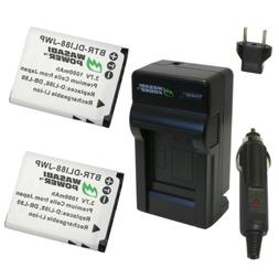 Wasabi Power Battery  and Charger for Sanyo DB-L80, DB-L80AU