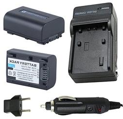Battery  and Charger for Sony HDR-XR160, HDR-XR260V Hard Dis