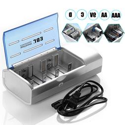 EBL Universal Charger For 9V AA AAA C D Size Multi NiMH Rech
