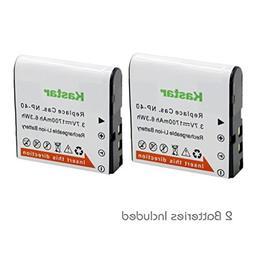 Kastar Battery  for Casio NP-40 & Casio Exilim EX-Z1000 EX-Z
