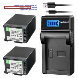 Kastar Battery LCD Charger for Canon BP-820 BP-828 & Canon V