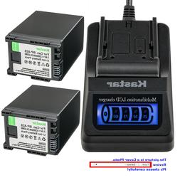 Kastar Battery LCD Quick Charger for Canon BP-828 BP820 Cano