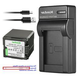 Kastar Battery Slim Charger for Panasonic VW-VBG260 PV-GS80
