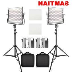 SAMTIAN Bi-color LED Video Light Camera Studio Photo Lightin