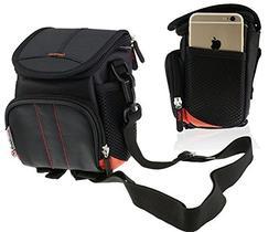 Navitech Black Digital Camera Case Bag Cover For TheFitige