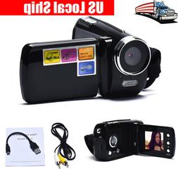 Black Mini DV Camcorder 1.8 Inch LCD 4x Zoom Video Camera Be