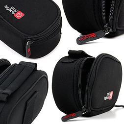 Black Neoprene Lightweight Zip-Locked Carry Case with Access