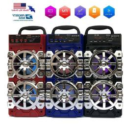 Portable Bluetooth Speaker Wireless Outdoor Rechargeable FM