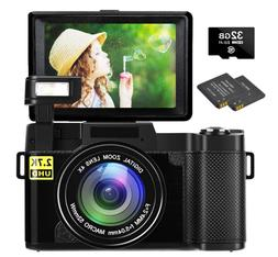 "Cámara Digital 30MP 2.7k Full HD 3"" Pantalla Plegable LCD V"
