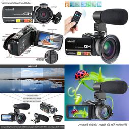 Camcorder 1080P IR Night Vision Camcorders Full HD Portable