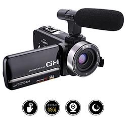 Camcorder Video Camera Full HD 1080p 30fps 24.0MP Camcorders