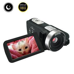 Video Camcorder Full HD 1080p 30fps Video Camera Night Visio