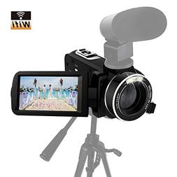 Camcorder Full HD 1080p 30fps Video Camera Support Shotgun M
