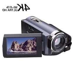 Camcorder 4K 1080p 60fps 24MP 16X Digital Zoom 3.0' Touch Sc