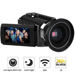 4K Camcorder, LAKASARA Video Camera Camcorders 48.0MP Ultra