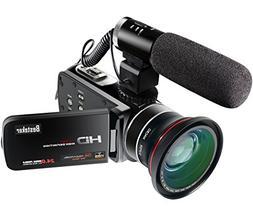 Video Camcorder,Besteker 1080P 30FPS Wifi Camcorders Full HD