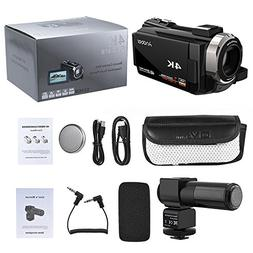 Andoer Camcorder 4K 1080P 48MP WiFi Digital Video Camera Rec