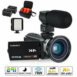4K Camcorder Vlogging Video Camera for YouTube CofunKool 60F