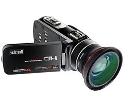 Camcorder, Besteker FHD 1080p 30 FPS Max.24.0 MP with WIFI a