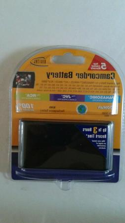 Camcorder Battery, 2,000 Mah. Fits Panasonic, JVC, RCA. Rech
