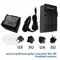 Camcorder Battery + Charger for PANASONIC CGR-DU06 CGR-DU07