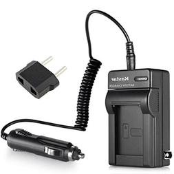 Kastar Battery Charger Kit for Sony Handycam DCR-SX44 Camcor