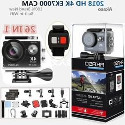 Camcorder Camera HD Ultra 12MP SD New + 4K Wifi DV EK7000 Ak