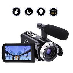 Camcorder Video Camera Full HD 1080p 24.0MP Digital Camera E