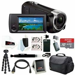 NEW!! Camcorder Sony HD Video HDR 60x Zoom 64GB Accessory Bu