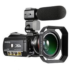 ORDRO Camcorder 4K Ultra HD 60FPS Video Camera with Wifi Ext