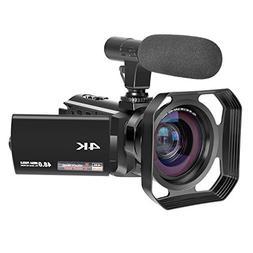 4K Camcorder Ultra-HD 48.0MP Digital Video Camera IR Night V