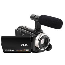 Camcorder with Microphone 4K Camera Video Camera WiFi Camcor