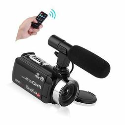 Seree Camcorder Video Camera Full HD 1080P WiFi Vlog Camera
