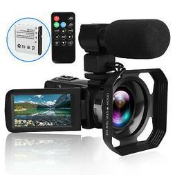 Camcorder Video Camera Ultra HD 4K 48MP 16X Digital Vlogging