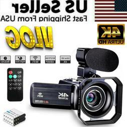 Camcorder Video Camera Ultra HD 4K 48MP Camcorder Camera VLO