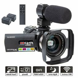Camcorder Video Camera YEEHAO WiFi HD 1080P 24MP 16X Digital