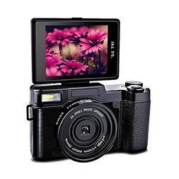 Digital Camera 24.0 MP Camcorder Vlogging Camera Full HD 108