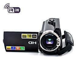 SEREE Camcorder WIFI Video Camera FHD 1080P 30FPS Night Visi