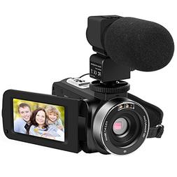 Camera Camcorders, LAKASARA Full HD 1080P 24MP IR Night Visi