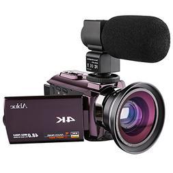 Ablue Camcorders, 4K Ultra-HD Portable 30FPS Wifi Digital Vi