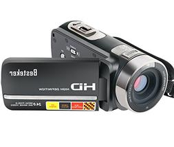 Camera Camcorders, Besteker FHD 1080P Night Vision 24MP 16X