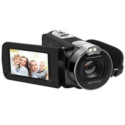 Camera Camcorders, LAKASARA Full HD 1080P 24MP Handy Video C