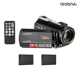 Andoer Camera Camcorder 1080P/4K WiFi Remote 12X Optical 100