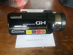 Camera Camcorders, Besteker HD 1080P 24 MP 16X Digital Zoom