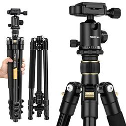 Camera Tripod, K&F Concept Aluminum Tripod TM2324 62 Inch wi