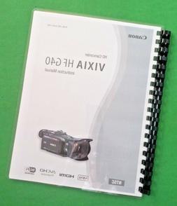 """Canon Vixia HF G40 Camcorder Camera 187 Page 8.5X11"""" LASER O"""