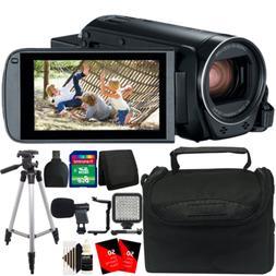 Canon VIXIA HF R800 Camcorder  + External Microphone + LED V