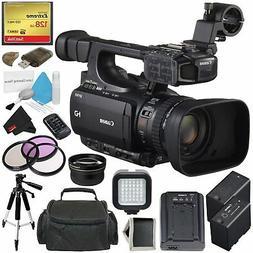 Canon XF100 Professional Camcorder 10x HD Video lens - Bundl