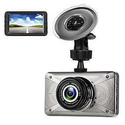 "3.0"" 1080P Car Dash Cam, LCD Full HD H.264 170 Degree Wide A"