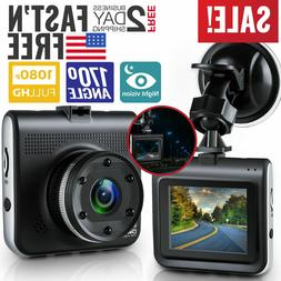 Car Vehicle Dash Camera 1080p HD Front Dashboard Security Re